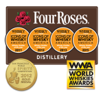 "For the fourth time in five years, Four Roses Distillery was named ""Whisky Distiller of the Year – America"" by Whisky Magazine. Four Roses has also won numerous other awards."