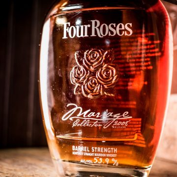 This was our first venture into the 750 ml Small Batch Limited Edition Barrel Strength market with a tie-in to the French term for combing alcoholic beverages.  We did another in 2009 before renaming it Four Roses Small Batch Limited Edition Small Batch, Barrel Strength and unfiltered.