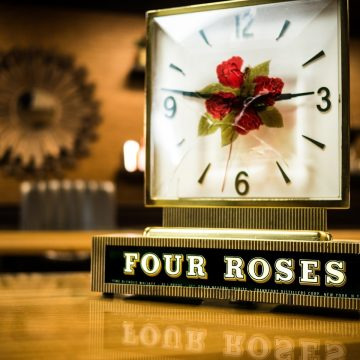 This clock was a promotional item used in liquor stores and bars to promote Four Roses Blended Whiskey in the United States.