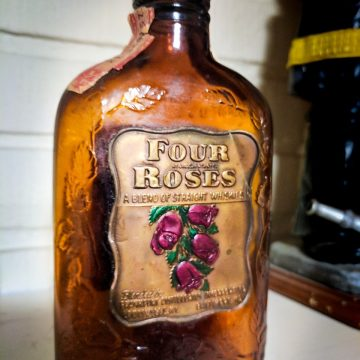 Kevin Jump submitted this fan photo highlighting a historic bottle of Four Roses from the mid-to-late 1930s.