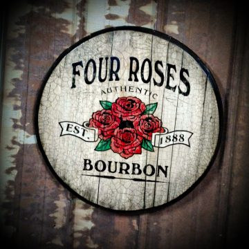 This barrel head, submitted by Four Roses fan Tony Mattingly, dates back roughly 20 years ago to the early 2000s.