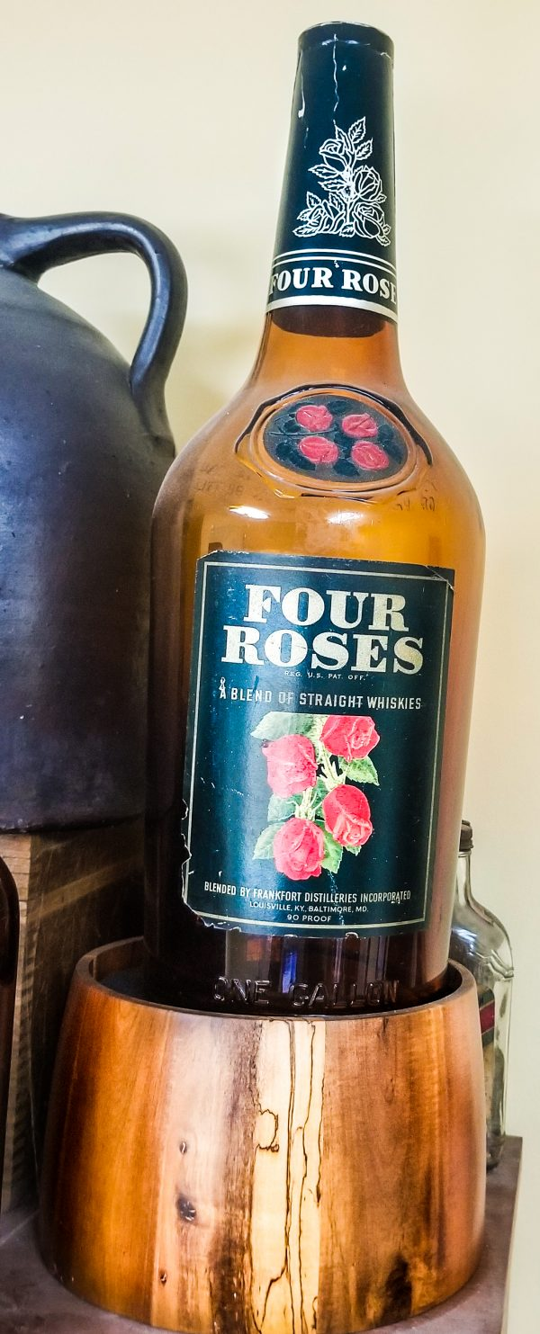Four Roses Gallon Bottle Display for Tavern - 1941
