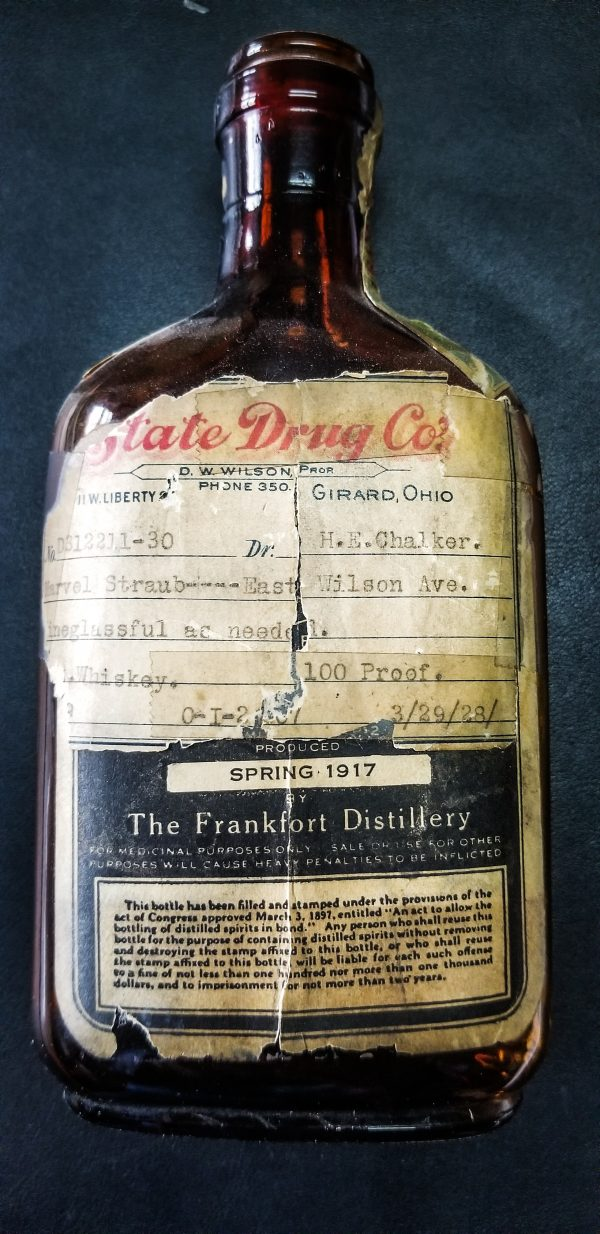 Four Roses Prescription Bottle – produced in 1917, bottled in 1928