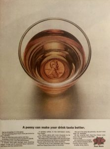 Four Roses 1963 advertisement