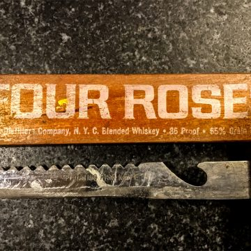 This fish knife used to advertise the Four Roses name in Japan in the 1970s.