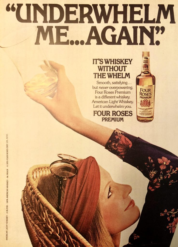 Four Roses 1973 Advertisement