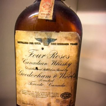 This Gooderham V. Worts Four Roses Canadian Whiskey resulted in a copyright infringement suit with Frankfort Distillers during the early 1940s. Frankfort won.