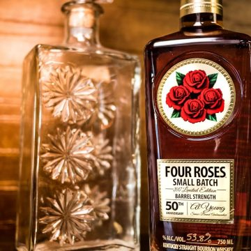 This limited edition of Four Roses Small Batch Bourbon's packaging was designed to resemble the bottles and labels in use when Al started in the business in 1967.
