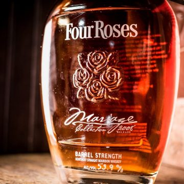 This was our first venture into the 750 ml Small Batch Limited Edition Barrel Strength market with a tie-in to the French term for combining alcoholic beverages. We did another in 2009 before renaming it Four Roses Small Batch Limited Edition, Barrel Strength and unfiltered.