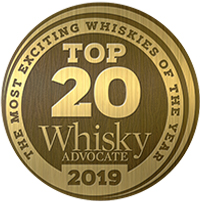 2019 Whisky Advocate Top 20 Badge